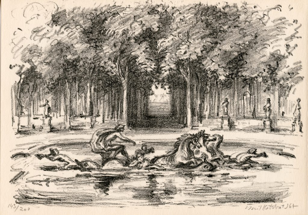 kotrba-emil-fountain-with-horses-lithograph-176
