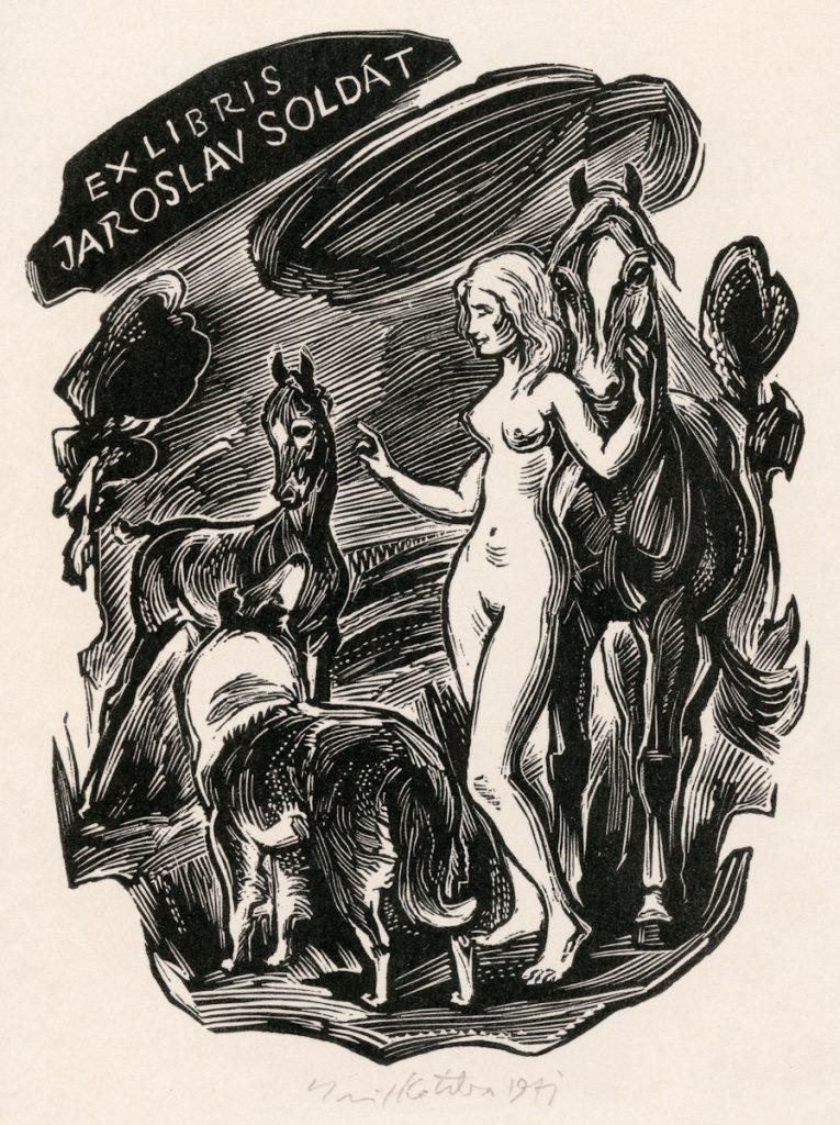 kotrba-emil-nude-dog-horse-colt-soldat-wood-engraving-114-2