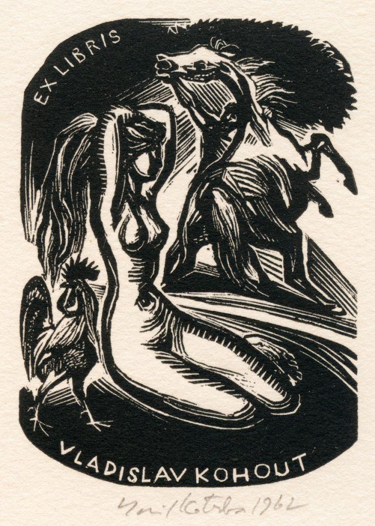 kotrba-emil-nude-woman-rearing-horse-rooster-kohout-wood-engraving-121-2