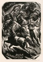 kotrba-emil-running-horses-man-with-upraised-arms-klinkovsky-wood-engraving-115-2