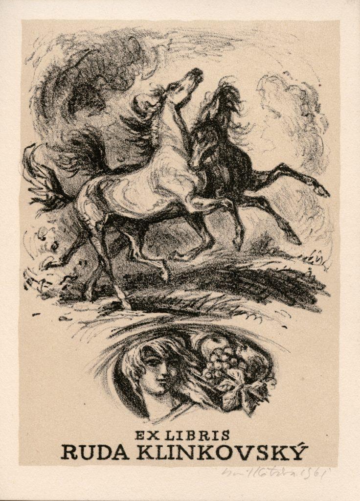 kotrba-emil-two-horses-rearing-klinkovsky-lithograph-112