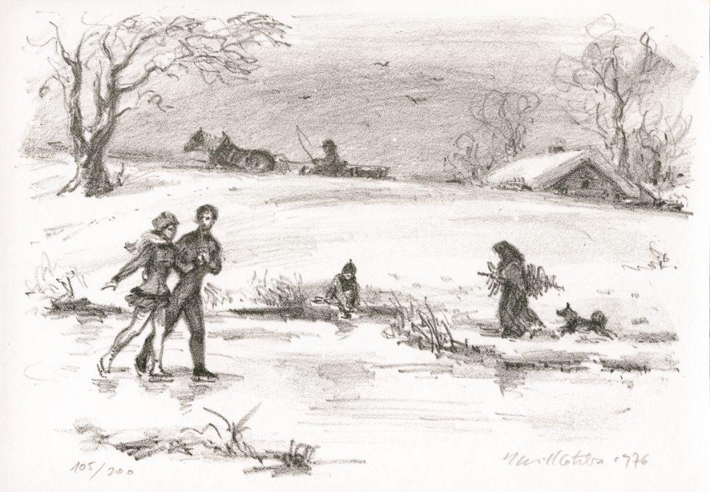 kotrba-emil-winter-scene-with-skaters-lithograph-174