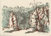 Kotrba - rocks - litho - sheet