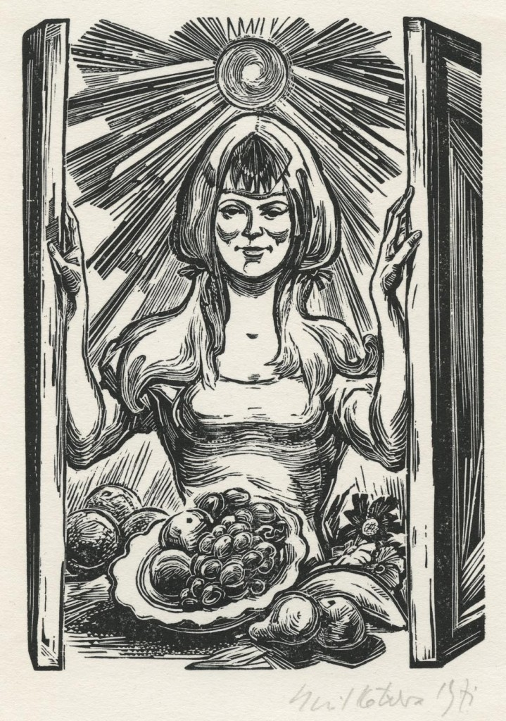 Kotrba - woman, sun, fruit - image