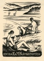 simon-pavel-wood-engraving-reading-woman-fishing-man-140-2