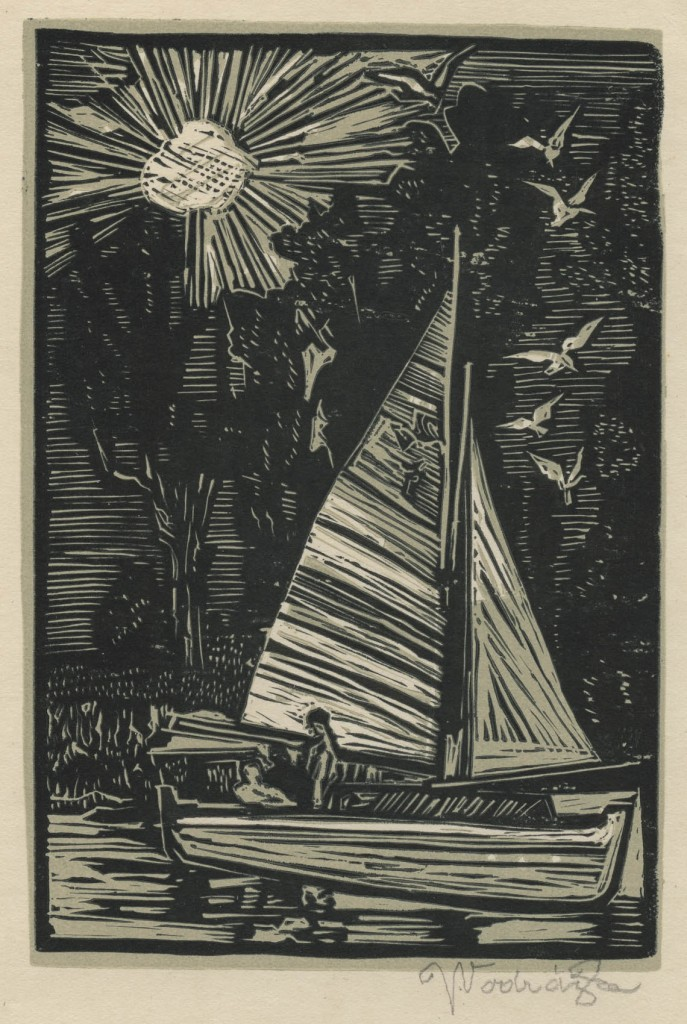 Vodrazka - sailboat - woodcut - image_