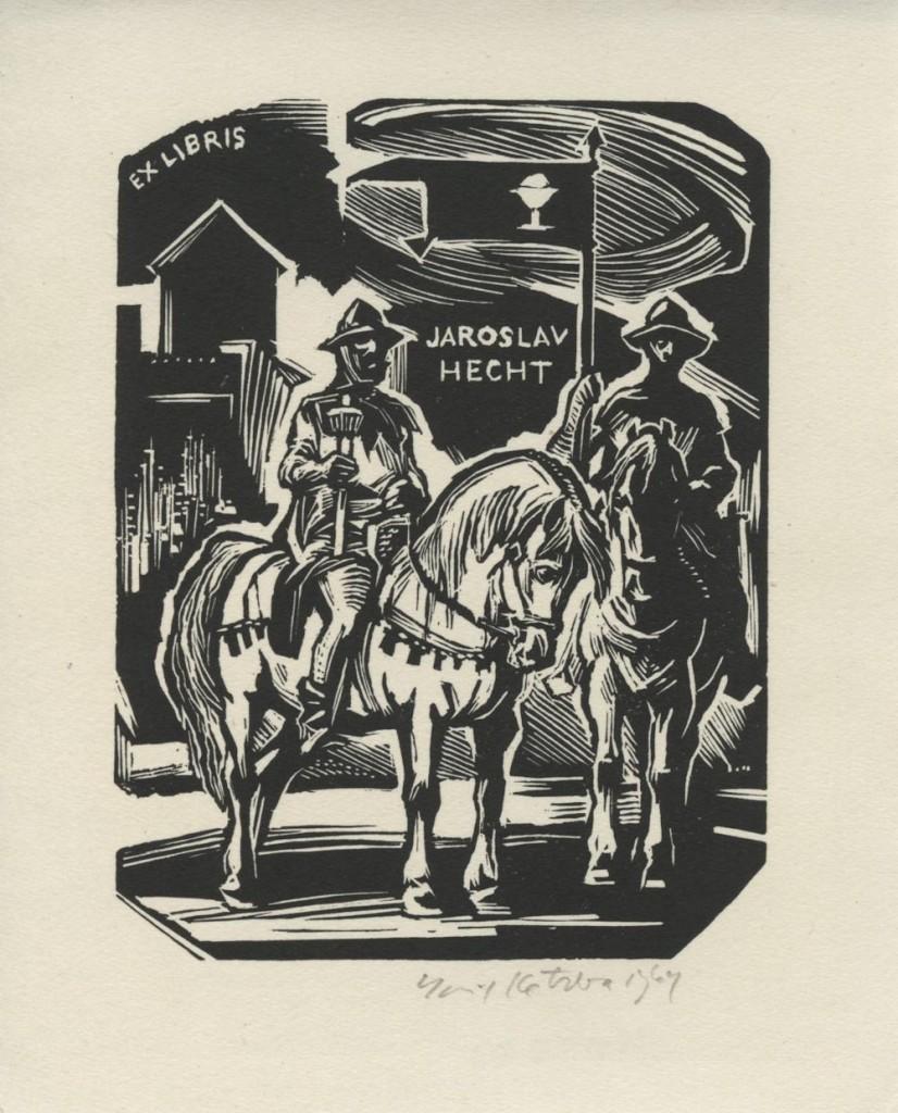 kotrba - soldiers on horseback, hecht, 1964 - wd eng