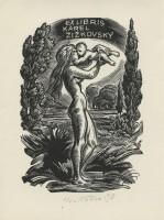 kotrba - wd eng - nude woman, infant, zizkovsky - sheet